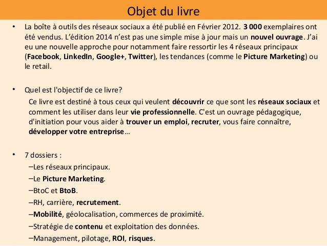 Cyril bladier la_boite_a_outils_des_reseaux_sociaux_2014_dunod_presentation Slide 2