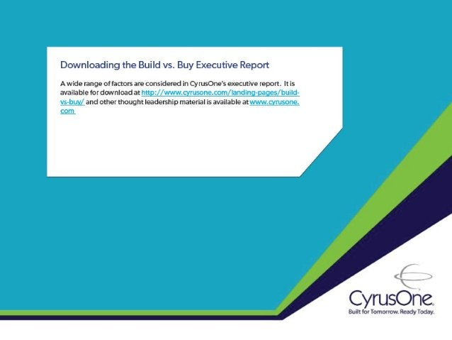 Build vs. Buy:  5 Key Steps to Overcoming Capital Constraints in the Data Center