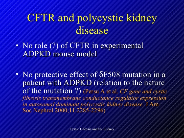 Cystic fibrosis and the kidney