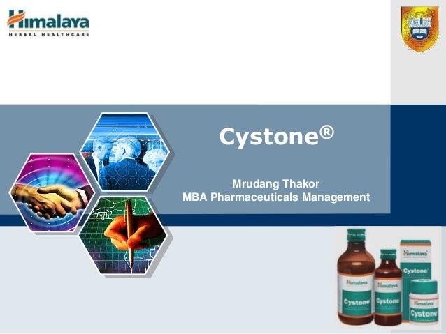 LOGO Cystone® Mrudang Thakor MBA Pharmaceuticals Management