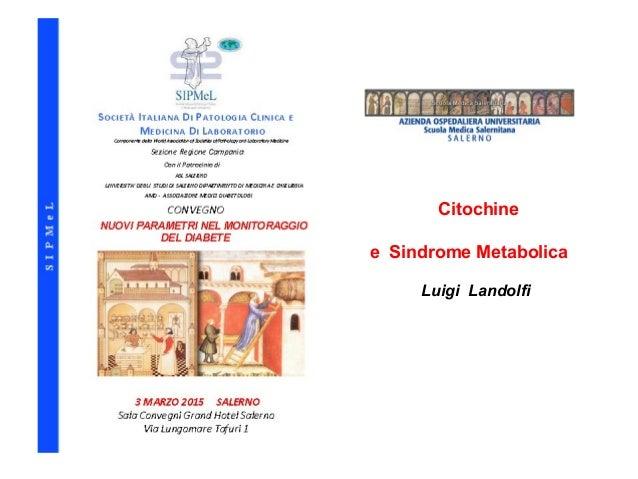 Citochine e Sindrome Metabolica Luigi Landolfi