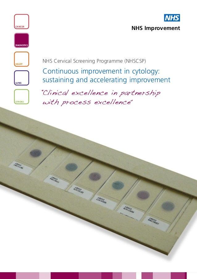 NHSCANCER                                                 NHS ImprovementDIAGNOSTICSHEART              NHS Cervical Screen...