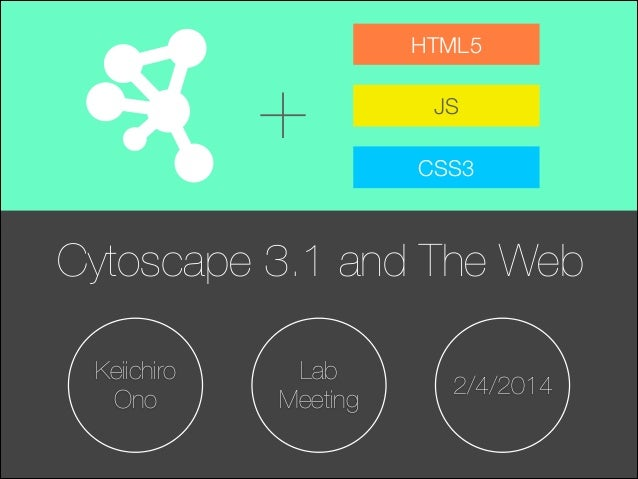 +  HTML5 JS CSS3  Cytoscape 3.1 and The Web Keiichiro Ono  Lab Meeting  2/4/2014