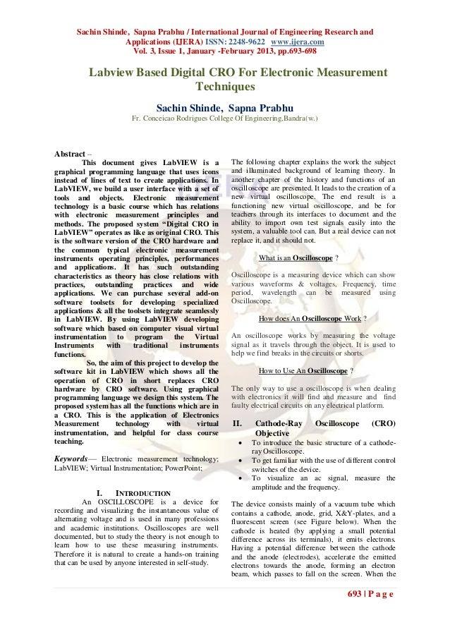 Sachin Shinde, Sapna Prabhu / International Journal of Engineering Research and                    Applications (IJERA) IS...