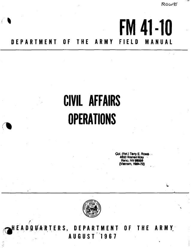 United Nations Civil Affairs Handbook