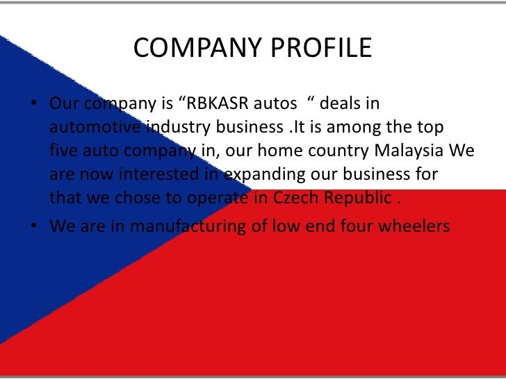 """COMPANY PROFILE<br />Our company is """"RBKASR autos  """" deals in automotive industry business .It is among the top five auto ..."""