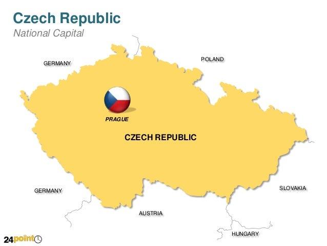 PowerPoint Czech Republic Map