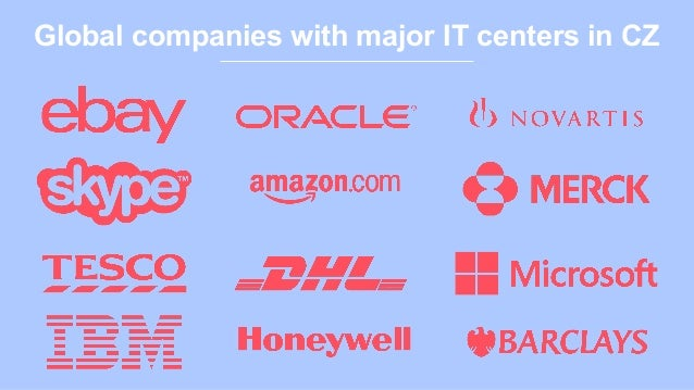 Global companies with major IT centers in CZ