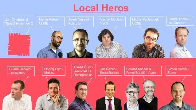 Jakub Nesetril - Apiary.io Local Heros Jan Gritzbach & Tomaš Hofer- AVG Martin Rehak - COSE Vaclav Muchna- YSoft Michal Pe...
