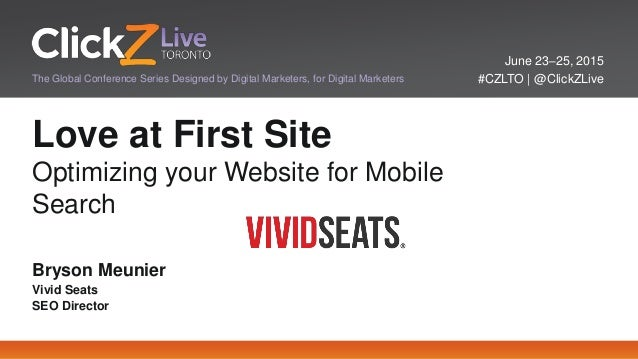 June 23–25, 2015 #CZLTO   @ClickZLiveThe Global Conference Series Designed by Digital Marketers, for Digital Marketers Lov...
