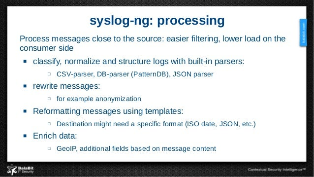 Scale 2016 syslog ng from raw data to big data application output 7 7 syslog ng pronofoot35fo Choice Image