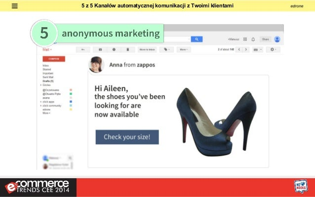 1. Anonymous User  2. Marging Cookies  3. edrone Partners Data  4. Email H5  Jak działa e-mail retargeting w edrone CRM ?