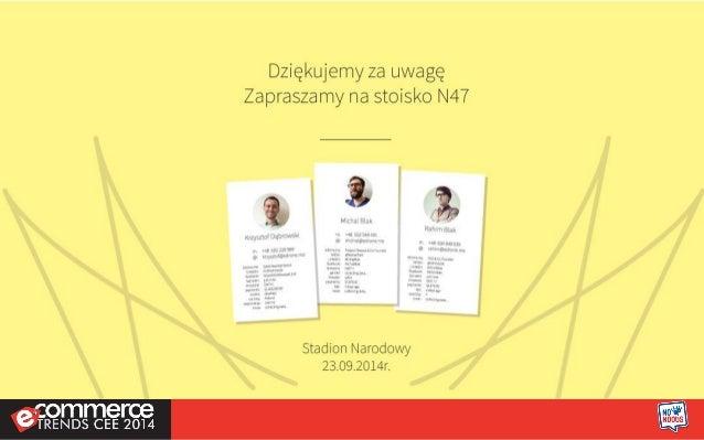 Czy e-commerce potrzebuje CRM-a? edrone na ecommerce trends CEE 2014 - Rahim Blak i Michał Blak.