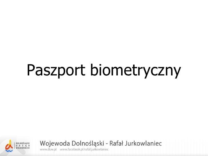 Paszport biometryczny