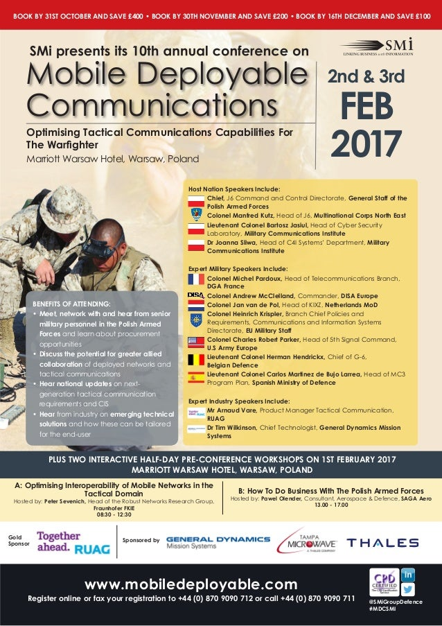 SMi Group's 10th annual Mobile Deployable Communications MDC
