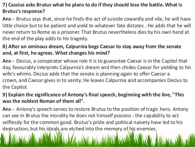 a study on brutus v cassius english literature essay This resource is part of the julius caesar unit and the english 10 course visit as a study guide will wear themselves hunting for brutus and cassius.