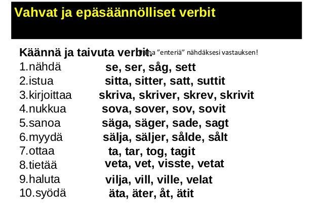 sanoa ruotsiksi