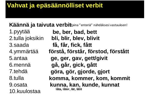 Pluskvamperfekti Ruotsi