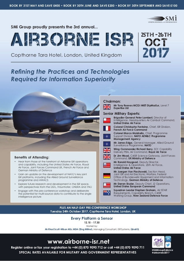 SMi Group's Airborne ISR 2017 conference