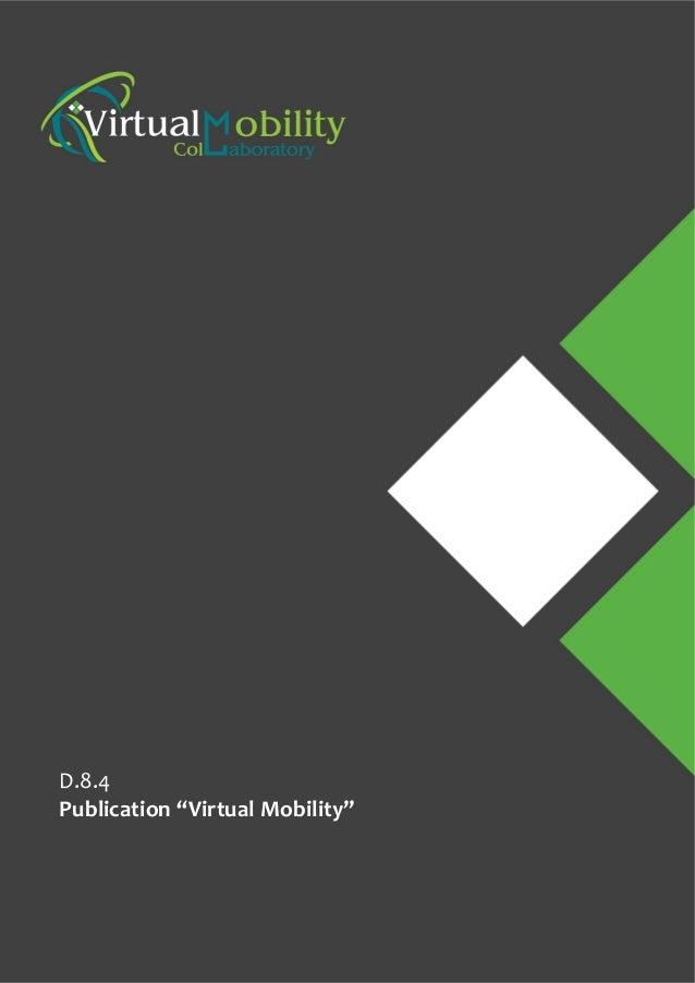"""D.8.4 Publication """"Virtual Mobility"""""""