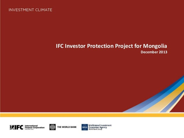 IFC Investor Protection Project for Mongolia December 2013