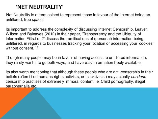why is internet censorship important