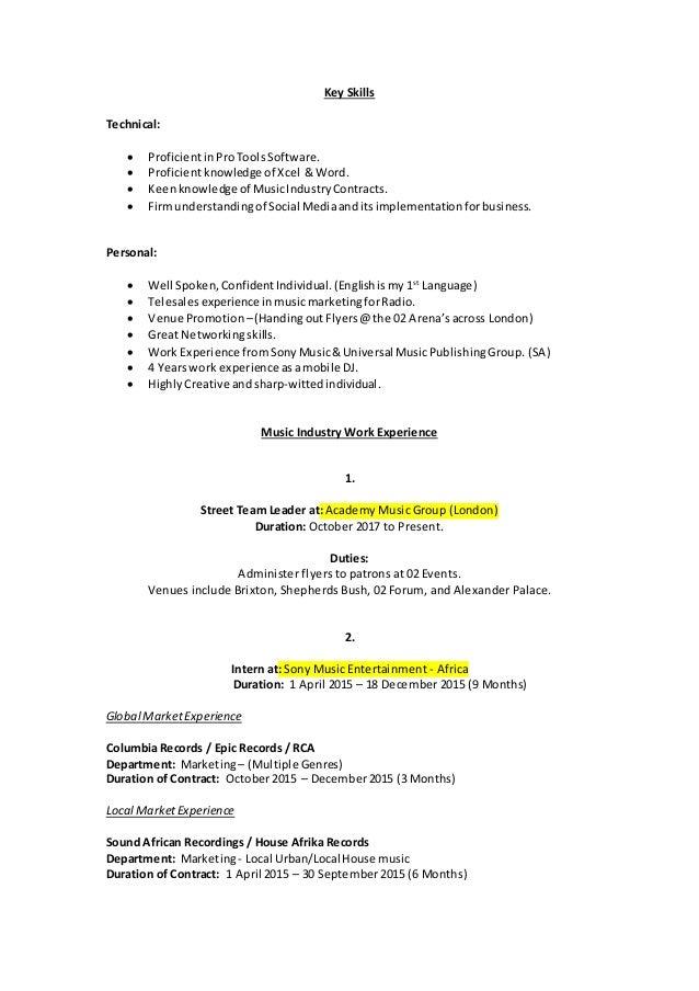 daniel odendaal c v    resume