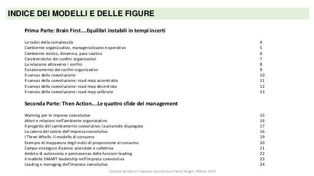 Daniela Bandera L'impresa coevolutiva Modelli & Figure Slide 2