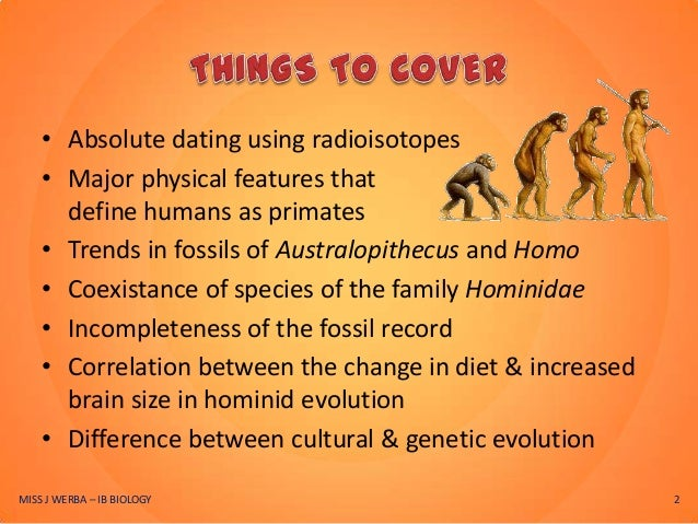 Biology define absolute dating