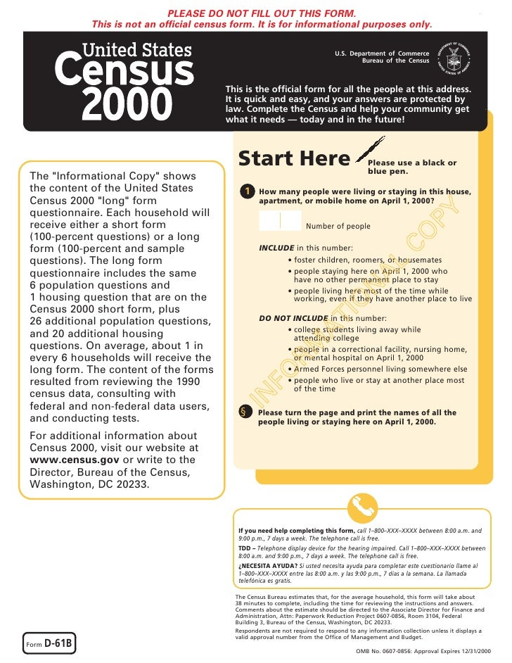 US Census 2000 Long Form