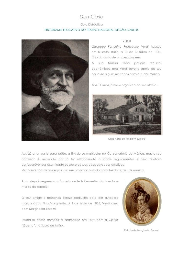 Don Carlo                                       Guia Didáctica               PROGRAMA EDUCATIVO DO TEATRO NACIONAL DE SÃO ...