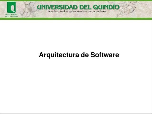 Arquitectura de Software