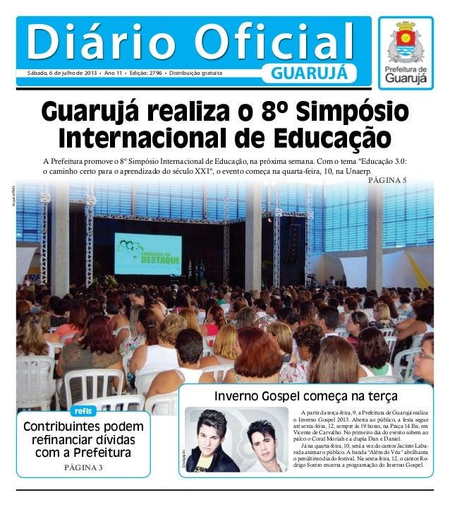 Contribuintes podem refinanciar dívidas com a Prefeitura Página 3 refis Inverno Gospel começa na terça A Prefeitura promov...