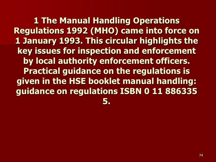 Manual handling essay