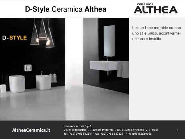 Uno Ceramica Civita Castellana.D Style Ceramica Althea