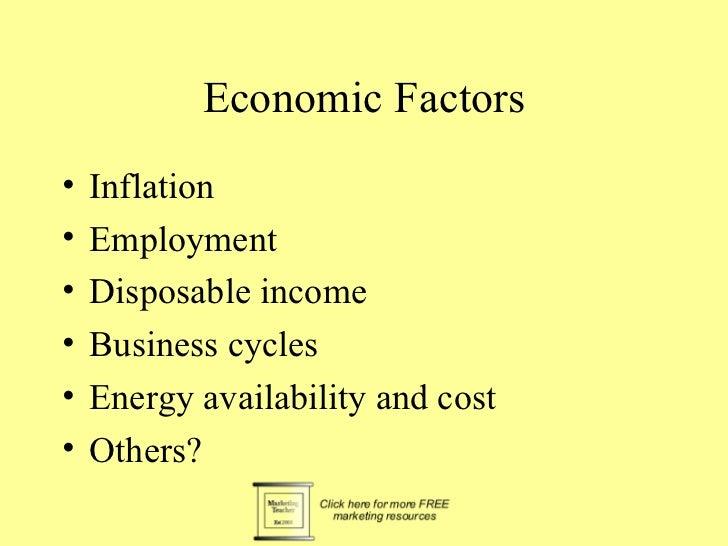 Sociocultural factors•   Demographics•   Distribution of income•   Social mobility•   Lifestyle changes•   Consumerism•   ...
