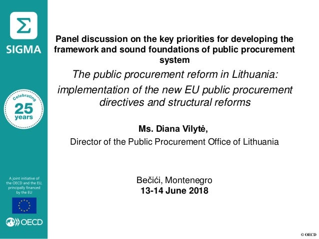 © OECD Panel discussion on the key priorities for developing the framework and sound foundations of public procurement sys...