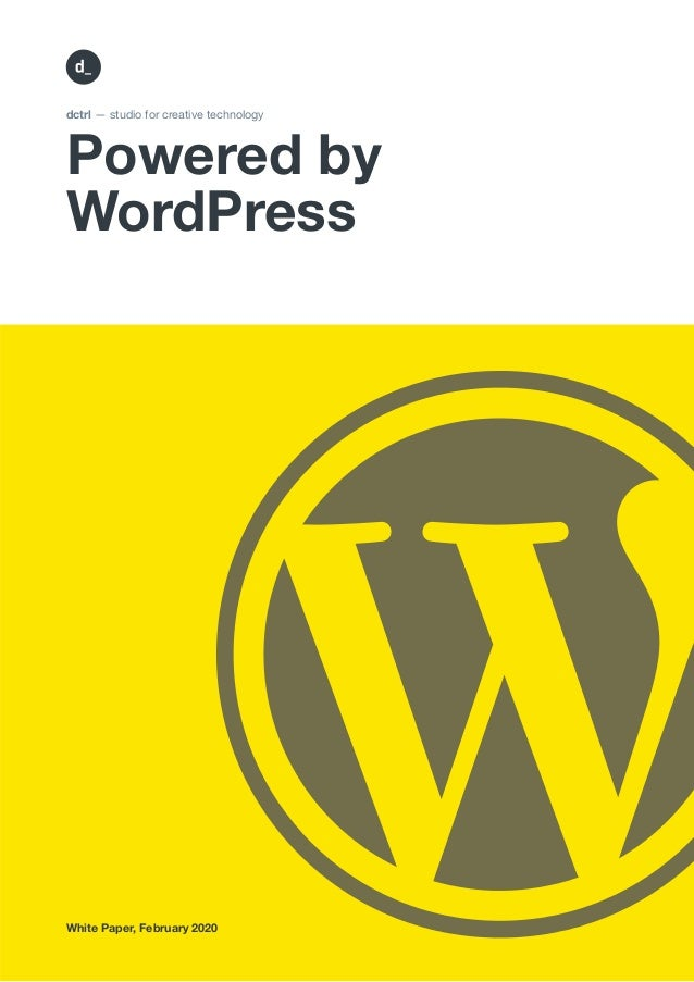 Powered by WordPress dctrl — studio for creative technology White Paper, February 2020