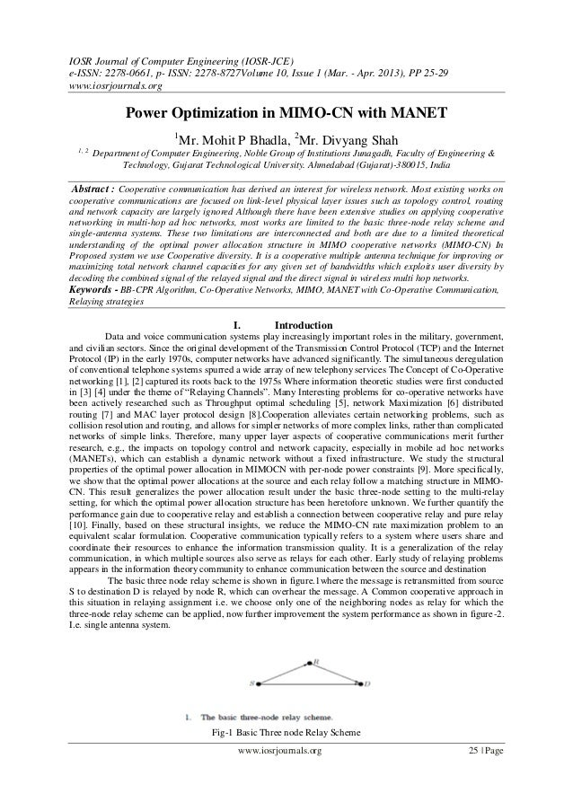 IOSR Journal of Computer Engineering (IOSR-JCE) e-ISSN: 2278-0661, p- ISSN: 2278-8727Volume 10, Issue 1 (Mar. - Apr. 2013)...