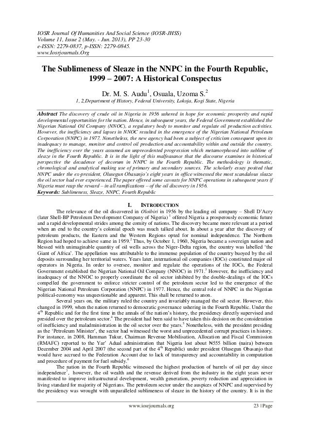 IOSR Journal Of Humanities And Social Science (IOSR-JHSS) Volume 11, Issue 2 (May. - Jun. 2013), PP 23-30 e-ISSN: 2279-083...
