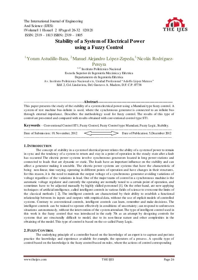 The International Journal of EngineeringAnd Science (IJES)||Volume|| 1 ||Issue|| 2 ||Pages|| 26-32 ||2012|| ISSN: 2319 – 1...