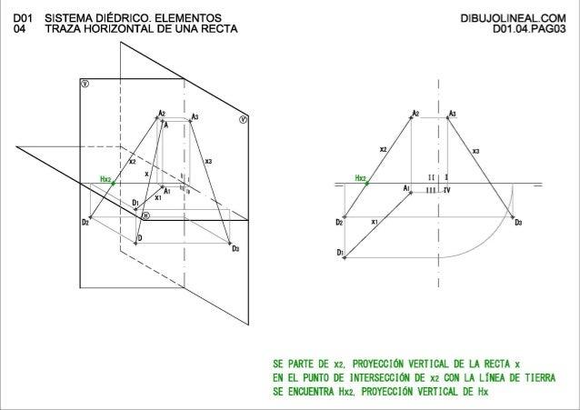 D01 Sistema diédrico. Elementos 04 Traza horizontal de una recta Slide 3