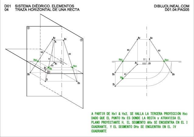 D01 Sistema diédrico. Elementos 04 Traza horizontal de una recta