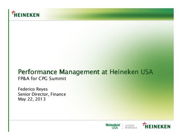 Performance Management at Heineken USAPerformance Management at Heineken USAPerformance Management at Heineken USAPerforma...