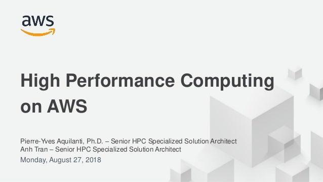 High Performance Computing on AWS