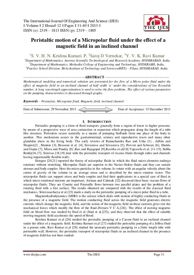 The International Journal Of Engineering And Science (IJES) || Volume || 2 ||Issue|| 12 || Pages || 31-40 || 2013 || ISSN ...