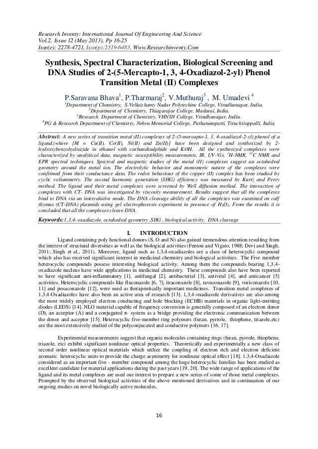 Research Inventy: International Journal Of Engineering And ScienceVol.2, Issue 12 (May 2013), Pp 16-25Issn(e): 2278-4721, ...