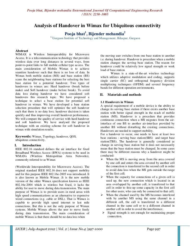 Pooja bhat, Bijender mehandia /International Journal Of Computational Engineering Research                                ...