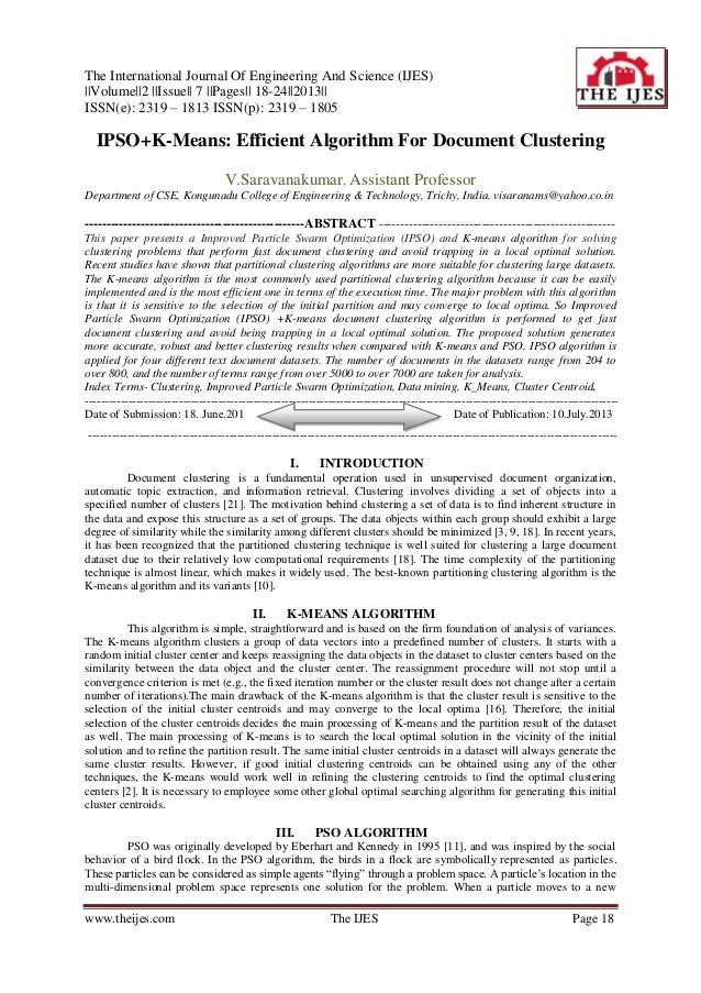 The International Journal Of Engineering And Science (IJES) ||Volume||2 ||Issue|| 7 ||Pages|| 18-24||2013|| ISSN(e): 2319 ...