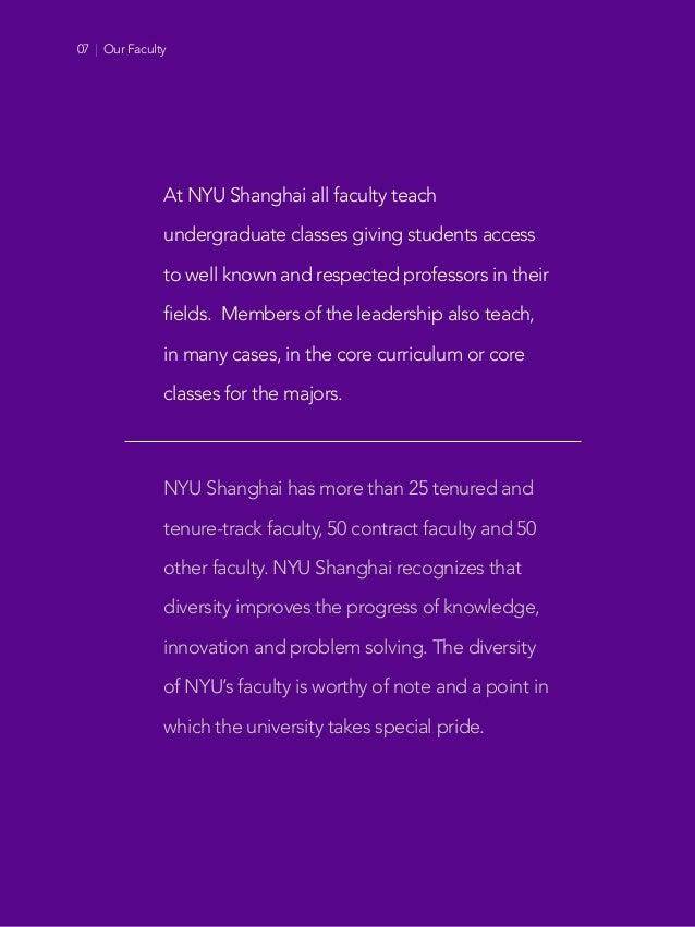 Offices of Faculty Affairs Faculty Recruitment NYU Shanghai New York University At NYU Shanghai all faculty teach undergra...